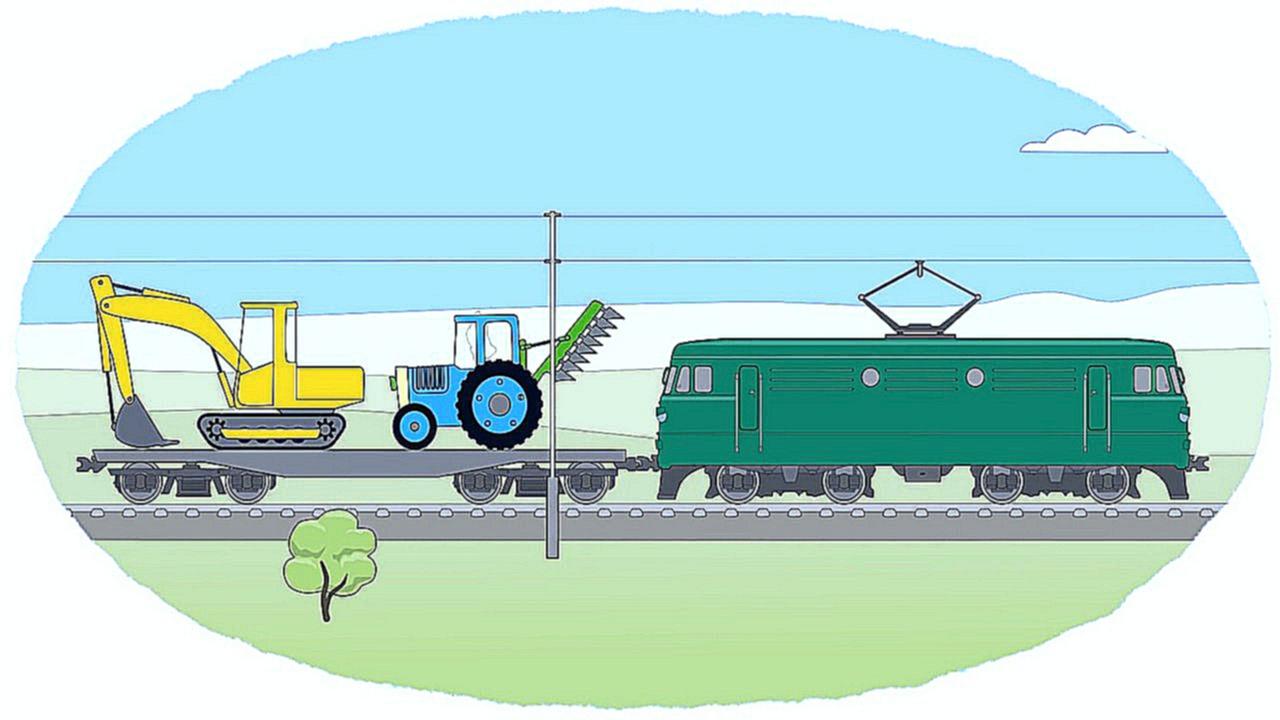 Мультики раскраска поезда