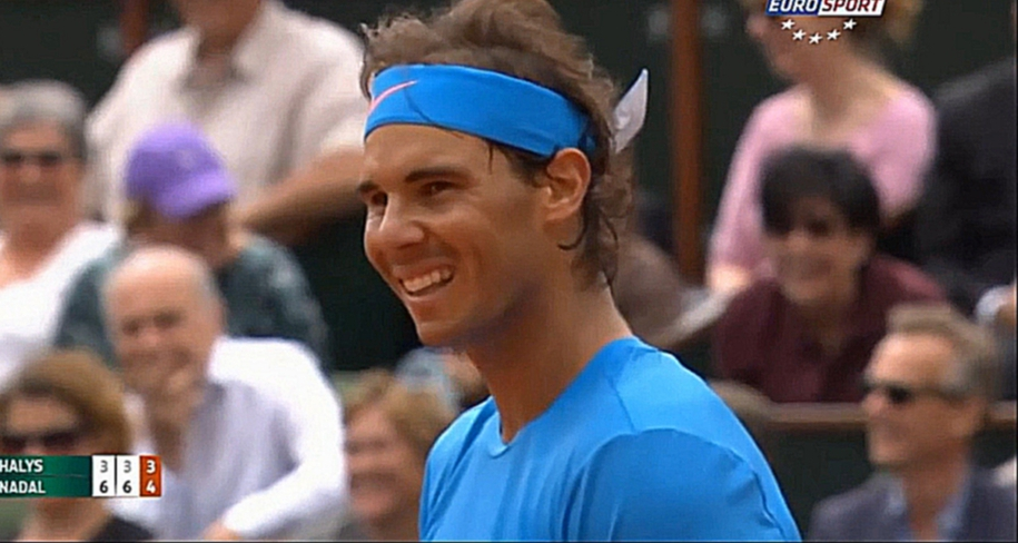 Nadal v Halys / R1 2015 RG / HIGHLIGHTS