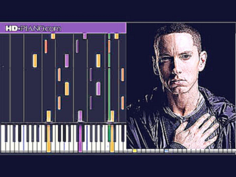 How to play Eminem Ass like that   Piano tutotial  30% speed