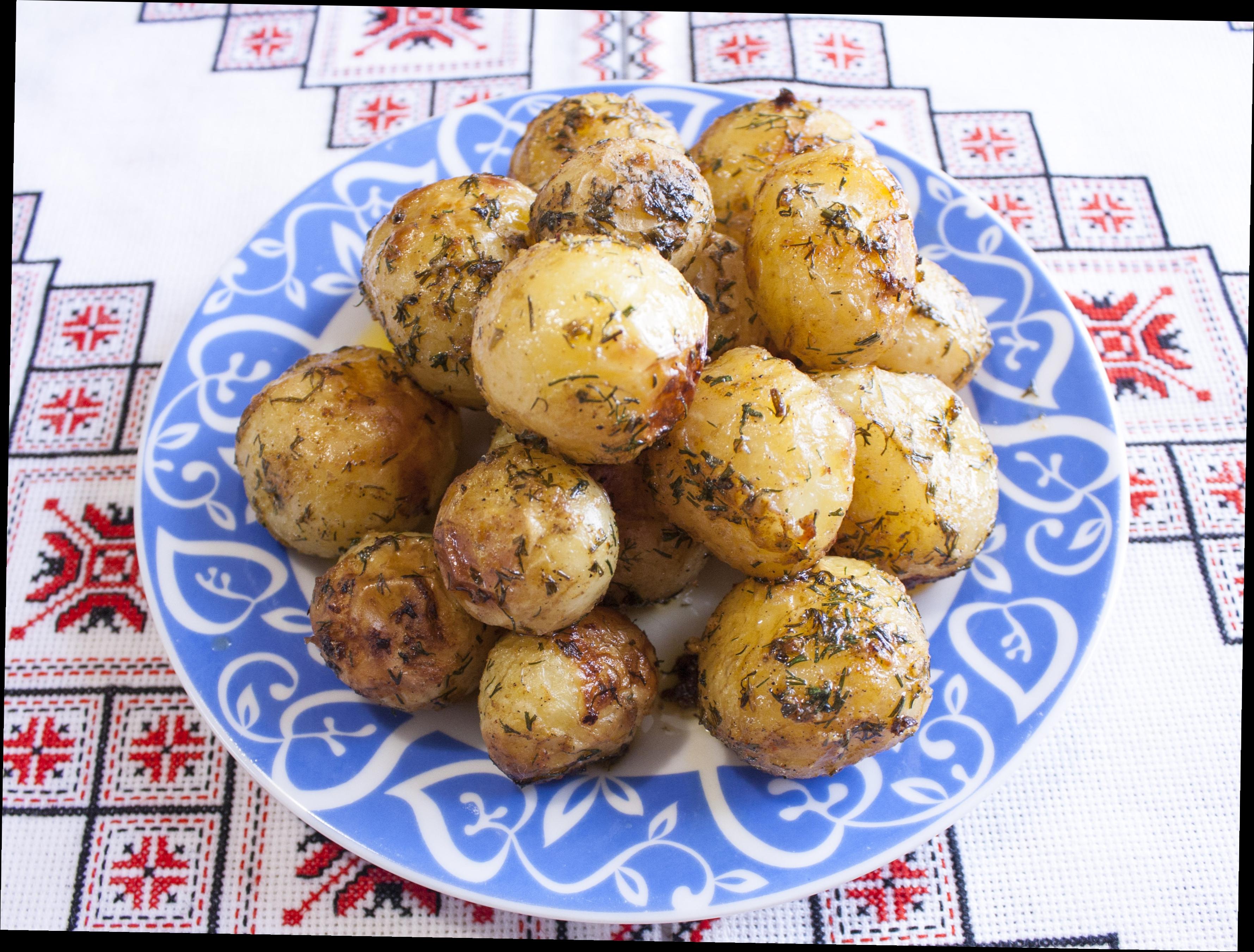 Картошка молодая в духовке рецепт пошагово