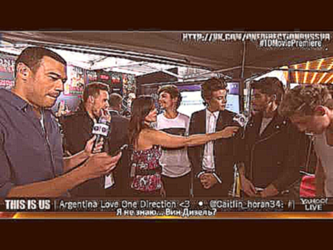 One Direction׃ This Is Us Red Carpet Premiere   Interview with Michael Yo and Nikki Boyer