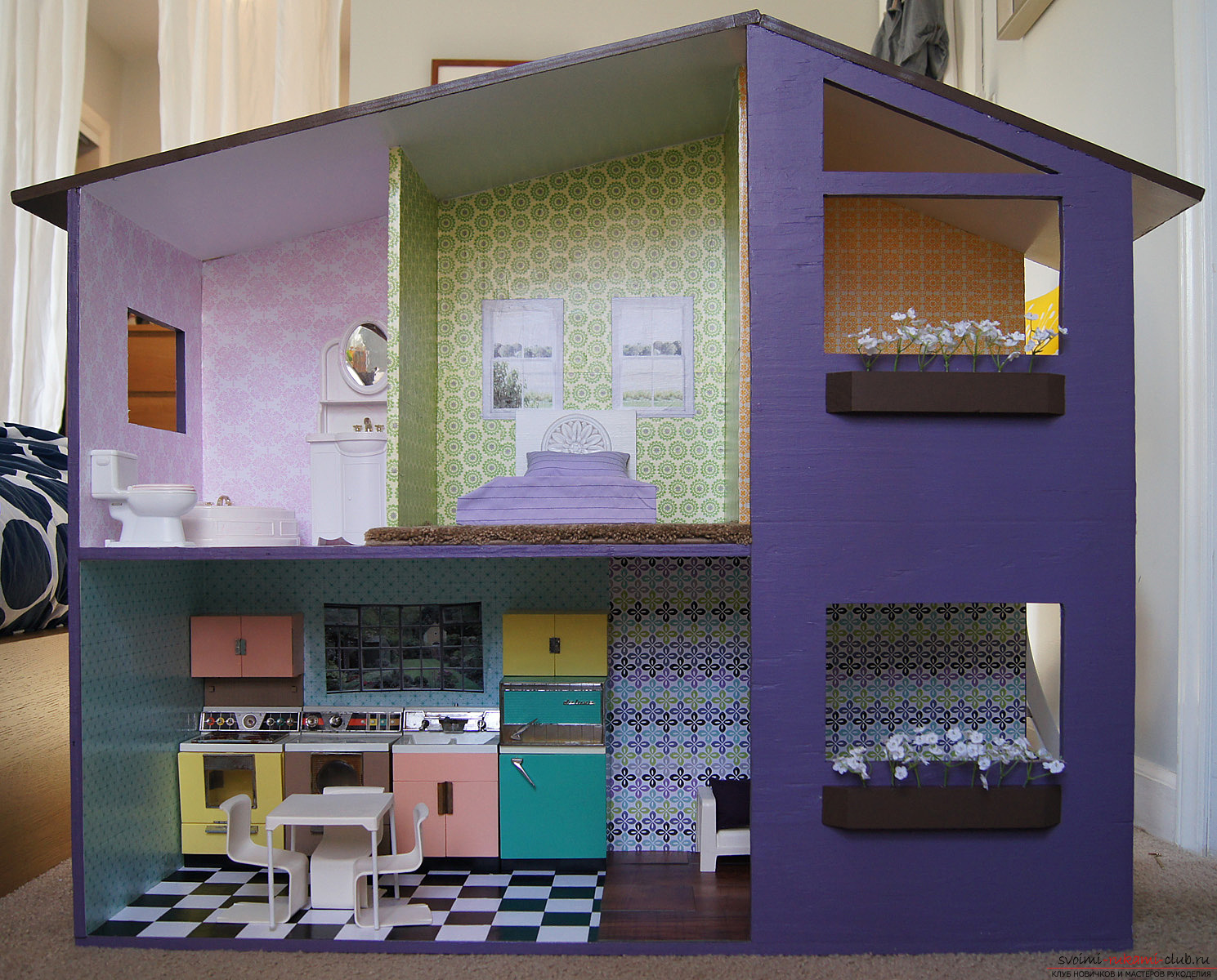 Мебель для кукол своими руками мастер класс