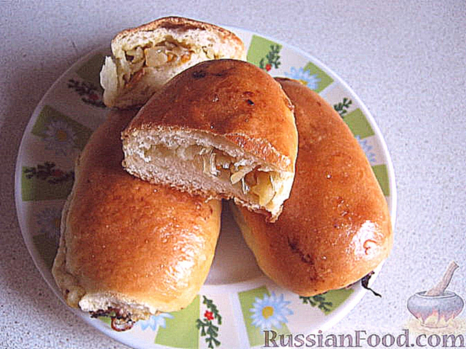 Пирожки с капустой печеные рецепты